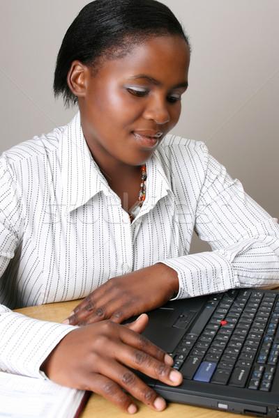 занят деловая женщина деловой женщины рабочих портативного компьютера компьютер Сток-фото © vanessavr