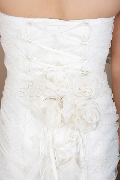 Trouwjurk kant detail Maakt een reservekopie lichaam Stockfoto © vanessavr