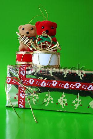 подарки конфеты два золото красный зеленый Сток-фото © vanessavr