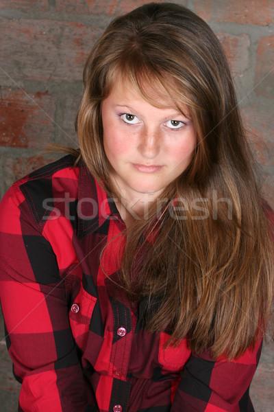Jóvenes femenino hermosa morena adolescente Foto stock © vanessavr