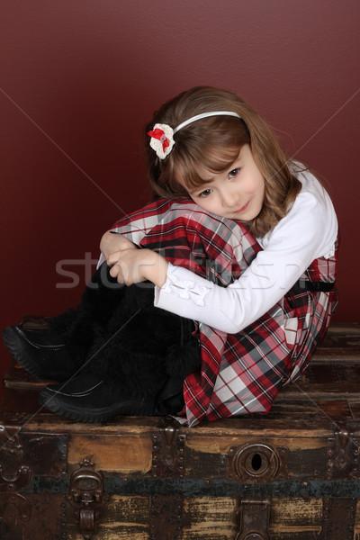 красивая девушка красивой девочку голову группы Сток-фото © vanessavr