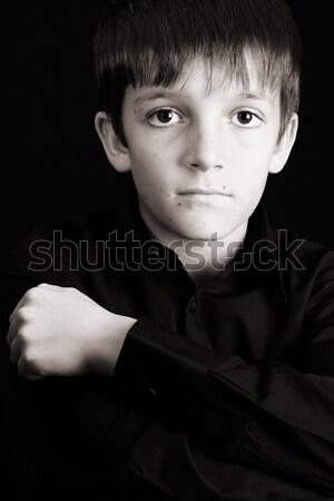 красивой мальчика черный лице Сток-фото © vanessavr