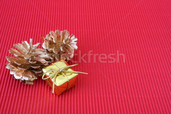 クリスマス ギフト 小 松 赤 ストックフォト © vanessavr