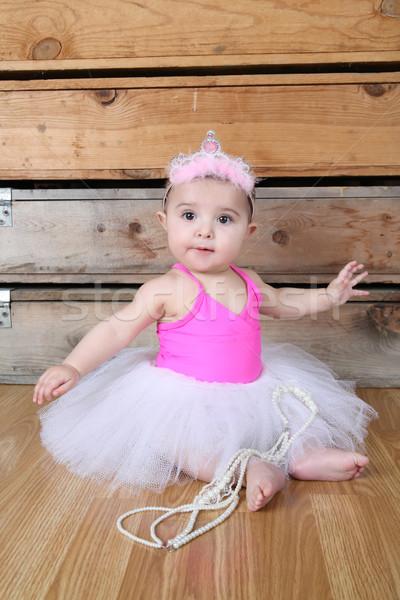ребенка балерины белый розовый девушки Сток-фото © vanessavr