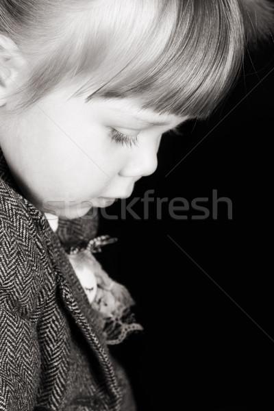 девочку портрет темно ребенка Сток-фото © vanessavr