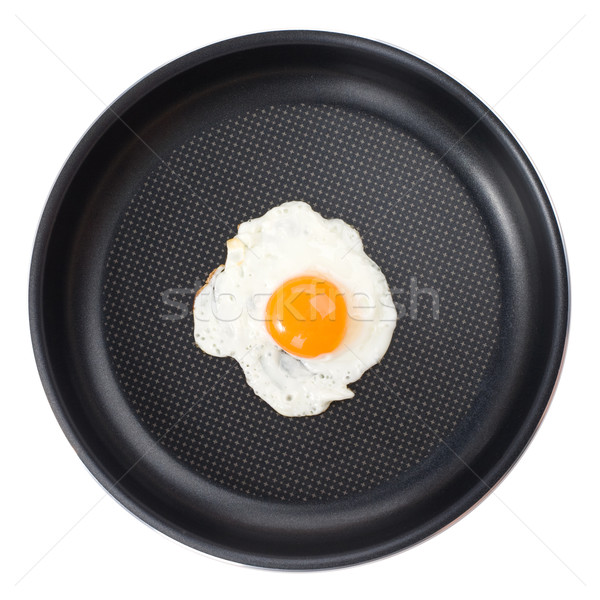 Fried egg in a pan Stock photo © vankad