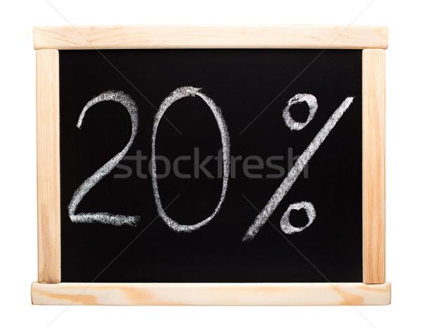 20 パーセント 書かれた 黒板 20 白 ストックフォト © vankad