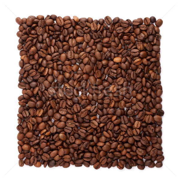 Coffee beans organised into foursquare Stock photo © vankad