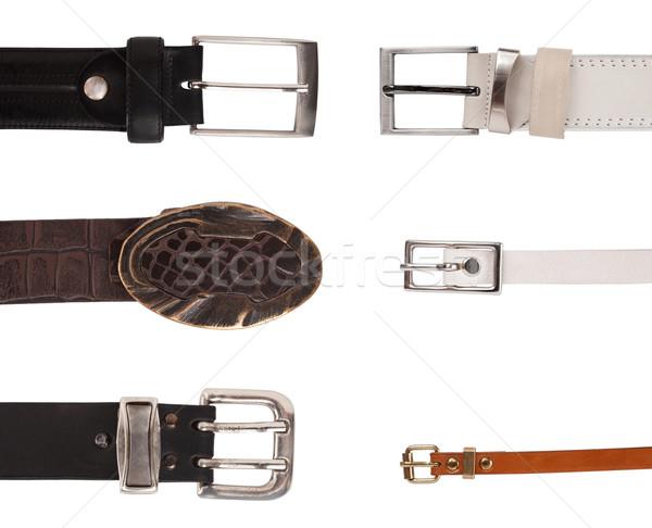 Zes verschillend ontwerp leder ijzer moderne Stockfoto © vankad