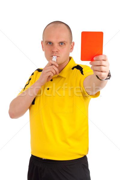 Calcio arbitro rosso carta isolato Foto d'archivio © vankad