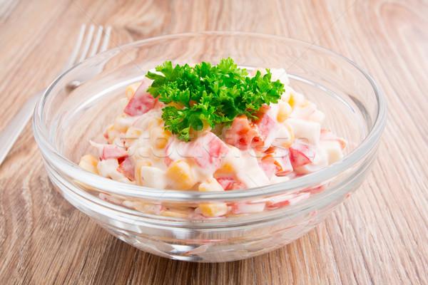 Salad in a bowl Stock photo © vankad
