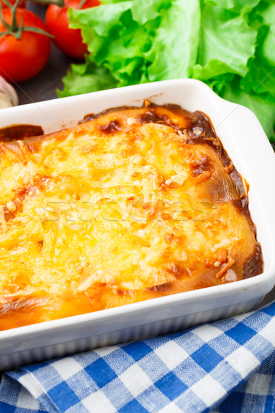 Italiana lasagna cotto tavola Foto d'archivio © vankad