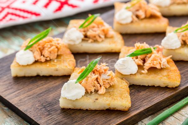 картофеля лосося терияки кремом сыра Сток-фото © vankad