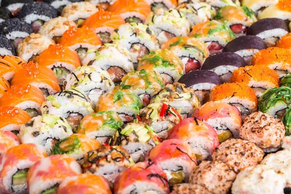 Stok fotoğraf: Sushi · farklı · balık · kırmızı