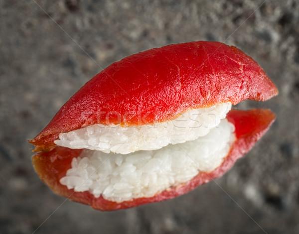 Sushi marinado atún concretas textura peces Foto stock © vankad