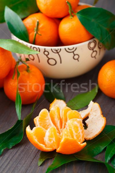 Ahşap lezzetli tatlı gıda meyve turuncu Stok fotoğraf © vankad