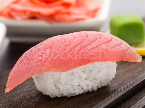 Nigiri sushi with tuna Stock photo © vankad