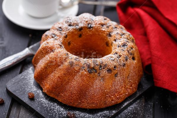 Torta nero pane coltello Foto d'archivio © vankad