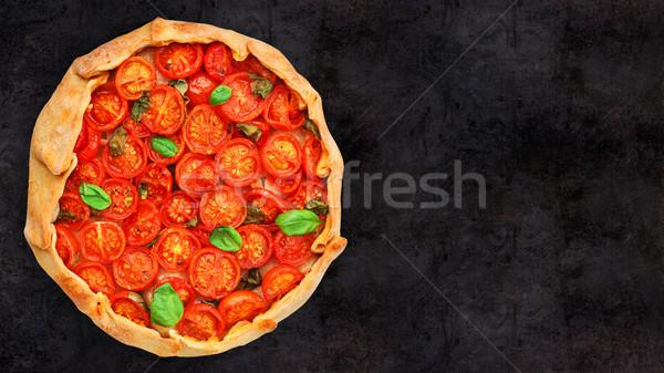Cherry tomato tart Stock photo © vankad