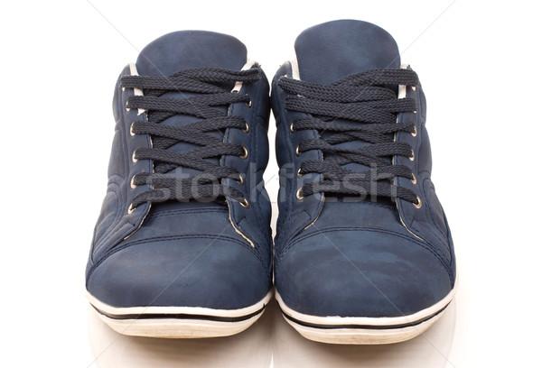 пару регулярный кроссовки общий изолированный белый Сток-фото © vankad