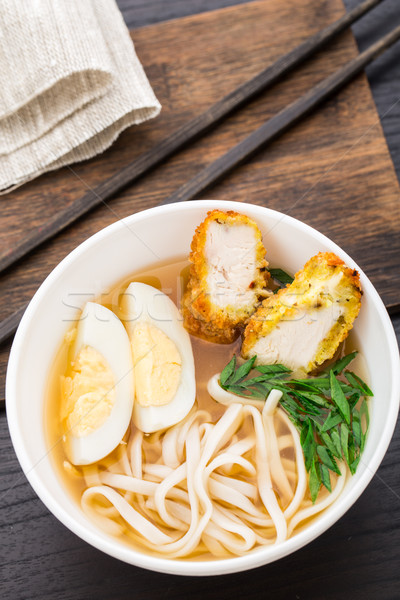 Stok fotoğraf: çorba · tavuk · tablo · yumurta · sağlıklı