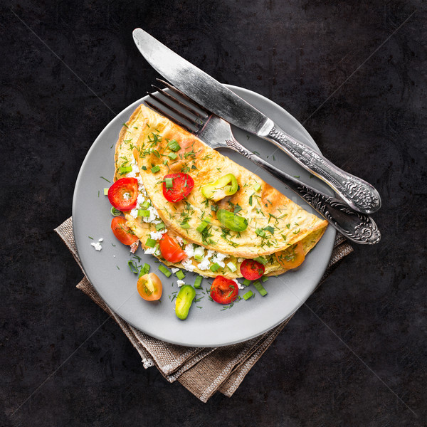 Omelette with vegetables Stock photo © vankad