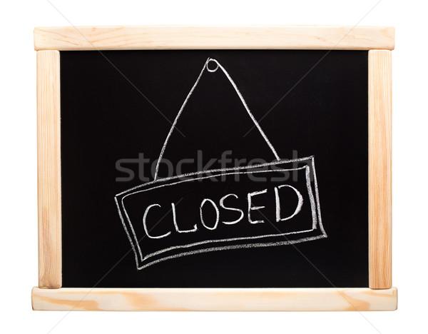 Cerrado signo pizarra tiza negocios escuela Foto stock © vankad