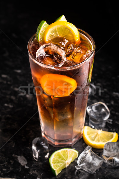 Cuba libre on marble table Stock photo © vankad