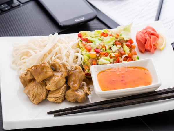 Szybki asian stylu obiad biuro działalności Zdjęcia stock © vankad