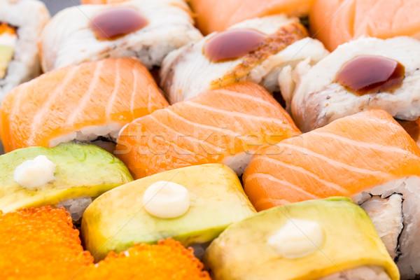 Sushi set closeup Stock photo © vankad