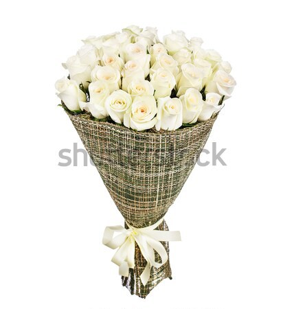 Flower bouquet of white roses Stock photo © vankad