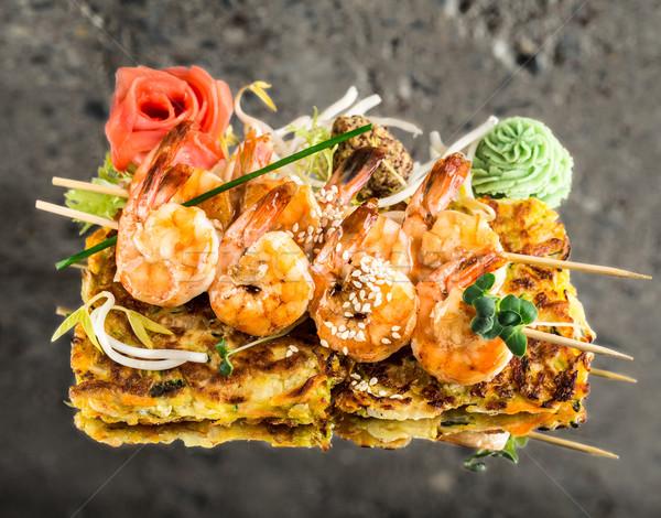 креветок растительное текстуры рок конкретные морепродуктов Сток-фото © vankad