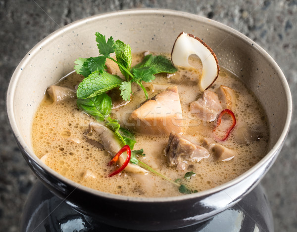 Thai Chicken Coconut Soup Stock photo © vankad
