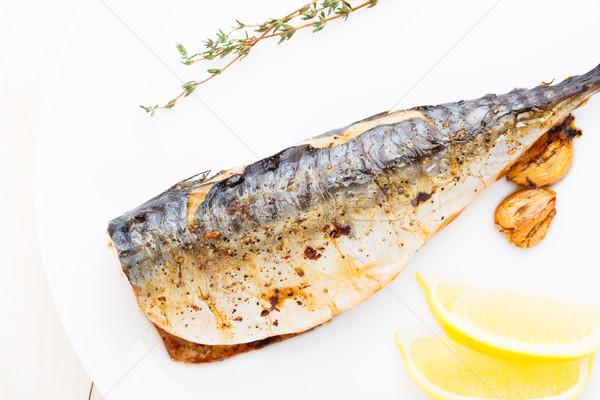 Baked mackerel Stock photo © vankad