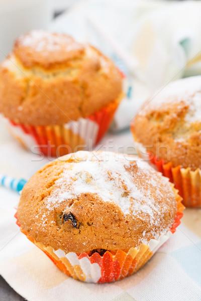 Muffin mazsola édes asztal torta szín Stock fotó © vankad