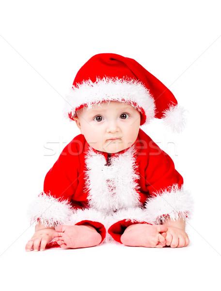 Christmas baby in Santa Claus clothes Stock photo © vankad
