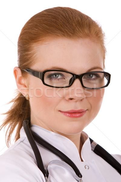 Piękna udany kobiet lekarza działalności szczęśliwy Zdjęcia stock © vankad