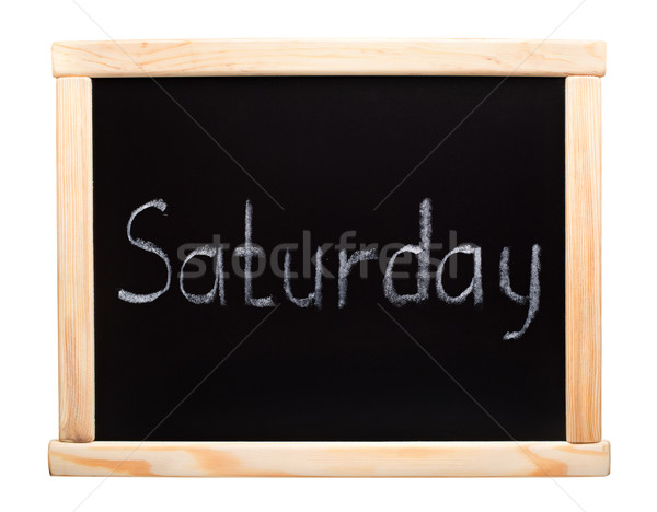 Days of the week: saturday Stock photo © vankad
