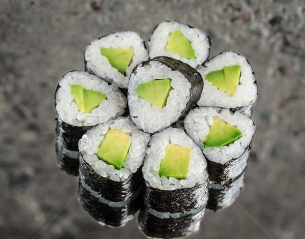 ストックフォト: ミニ · ロール · アボカド · 具体的な · テクスチャ · 食品