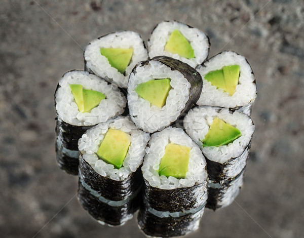 Mini rolar abacate concreto textura comida Foto stock © vankad