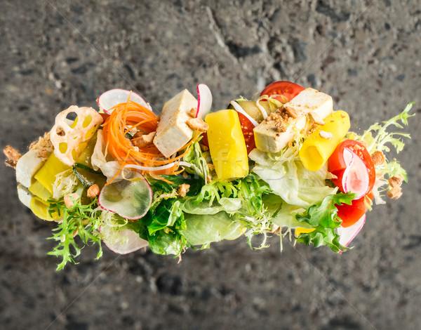 растительное Тофу Салат конкретные отражение текстуры Сток-фото © vankad