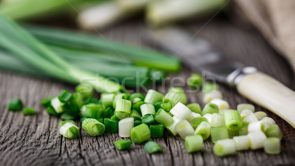 Foto stock: Picado · rústico · comida · madeira · saúde
