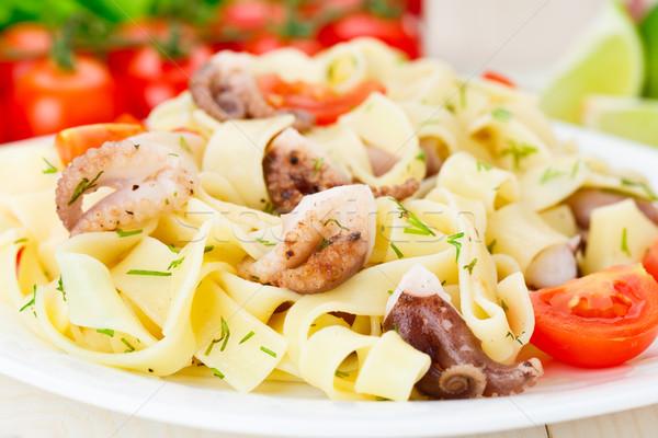 пасты осьминога пластина продовольствие еды Сток-фото © vankad