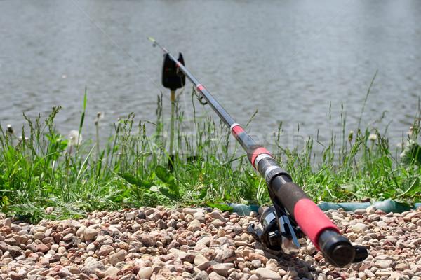 Canne à pêche lac eau pêche Photo stock © vankad