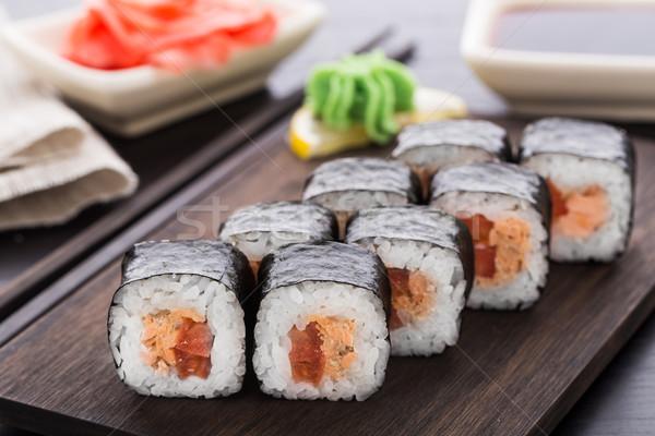 суши лосося терияки продовольствие Сток-фото © vankad
