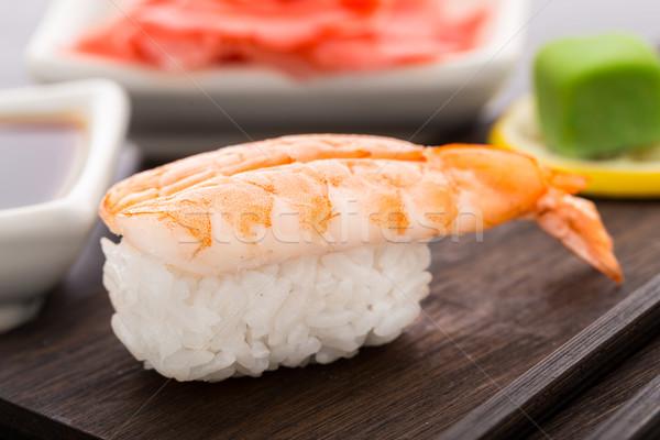Nigiri sushi with shrimp Stock photo © vankad