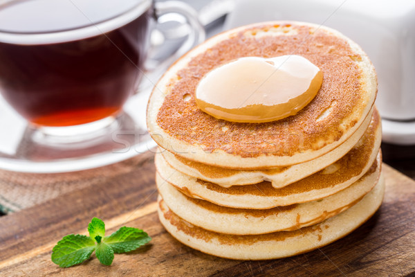 Stack of small pancakes  Stock photo © vankad