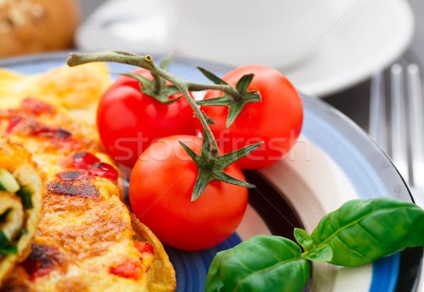 свежие поздний завтрак пластина красный завтрак Сток-фото © vankad