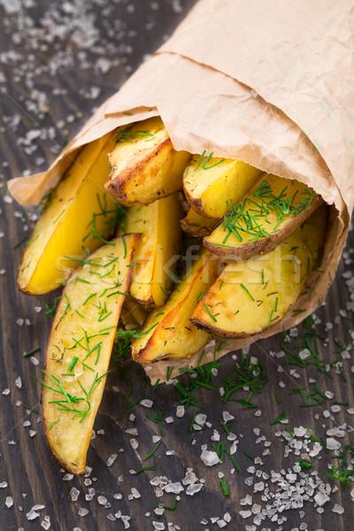 Potato wedges Stock photo © vankad