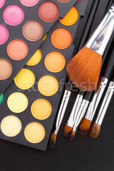 Makeup brushes and shadows Stock photo © vankad